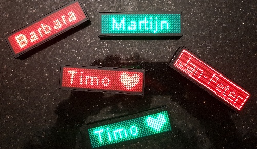 Led Name Tag Red Green