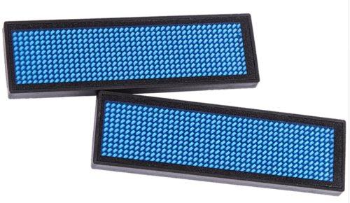 LED Naam-badge Blauw (1x)