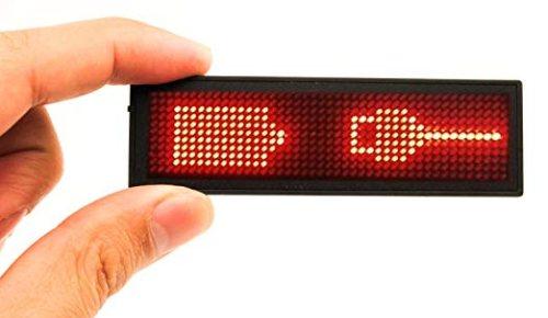 LED Naambadge Rood